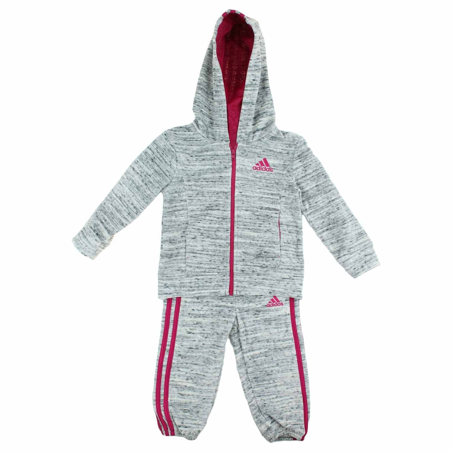 Adidas Girls 2 Piece Jacket Pants Athletic Tracksuit Set - S