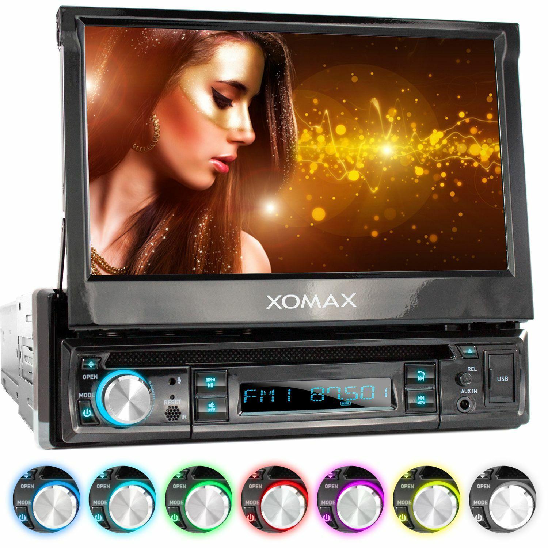 "AUTORADIO DVD CD BLUETOOTH 7""18cm TOUCHSCREEN DISPLAY USB=128GB MP3 AUX 1DIN"