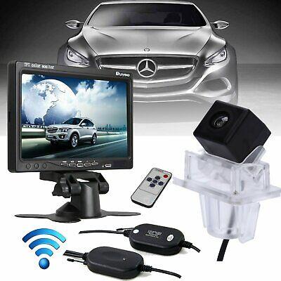 "7"" Monitor + Wireless Rear View Reversing Camera For Mercedes-Benz C E Class"