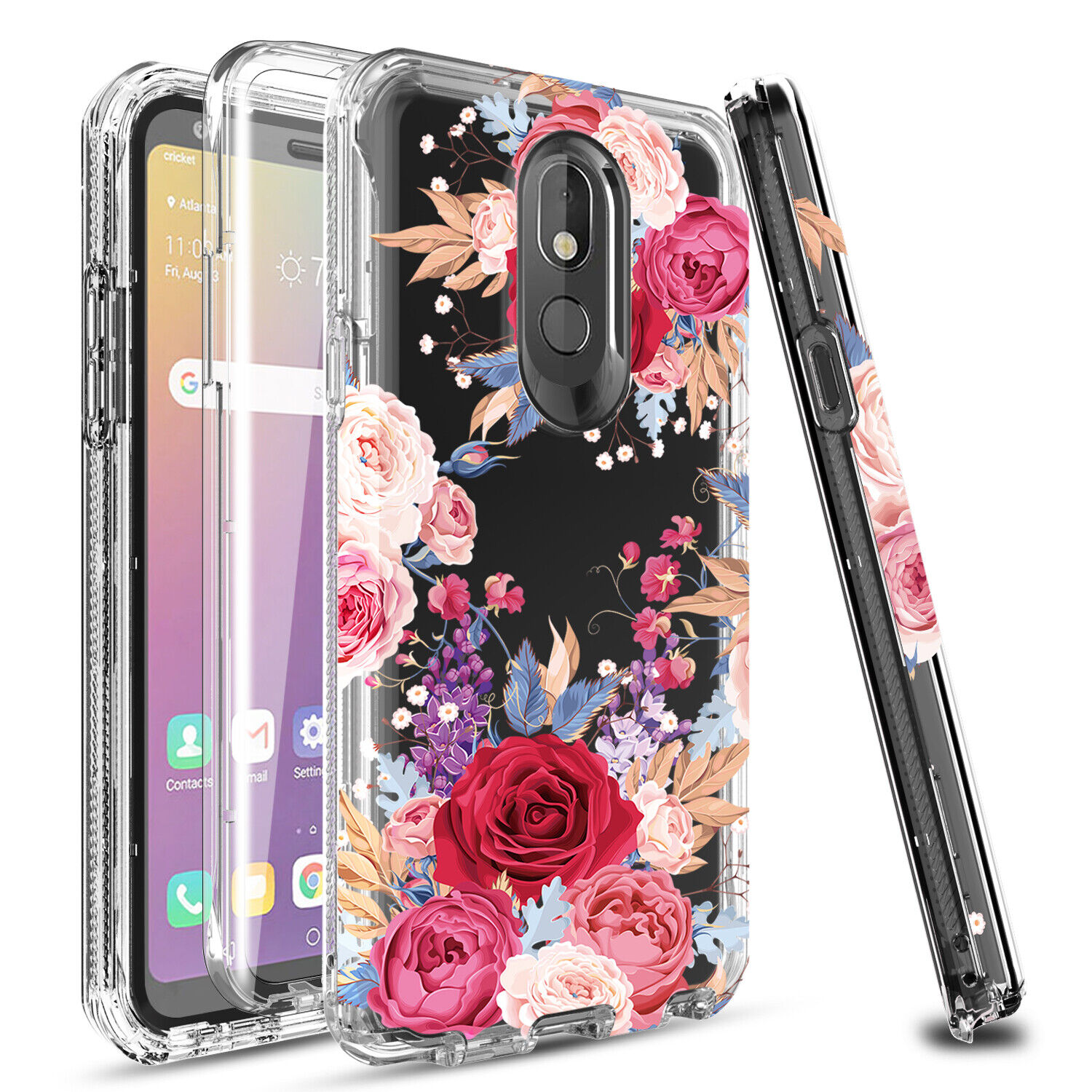 For LG Stylo 5/5x/5+ Shockproof Full Cover Case With Built-in Screen Protector Cases, Covers & Skins