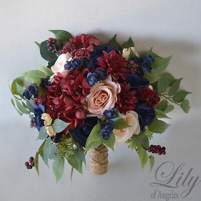RESERVED LISTING, Wedding Bouquet Silk Flower Bridal Bridesmaid