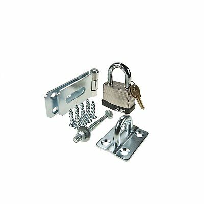 Nu-set 7-14 Hasp Heavy Duty Single-hinge Flat With 2 Laminated Padlock