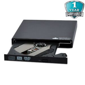 External USB 2.0 Slim CD RW DVD RW Burner Rewriter DVD Drive for All Laptop PC