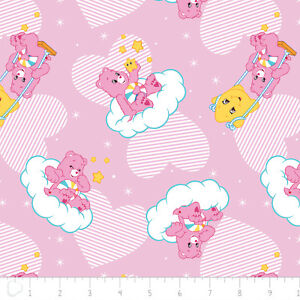 Care Bears Helpful Heart Bear Pink Camelot 100 Cotton Fabric By The Yard