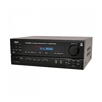 PYLE PT588AB 5.1 Channel 420 Watt Home Audio Receiver Amplif