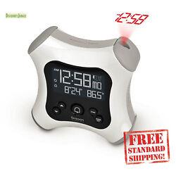 OREGON SCIENTIFIC Alarm Clock w/ Projection & Temprature dell'Hour RM330P White