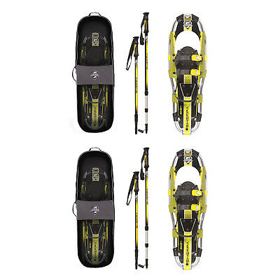 Yukon Charlie's Sherpa Series Snowshoe 8 x 21 Inches, Yellow/ Black (2 Pack)