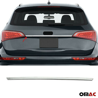 Fits Audi Q5 Sq5 2009-2017 Chrome Rear Trunk Lid Cover License Plate Trim Steel