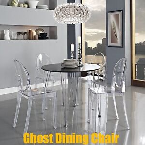 Ghost Starck Clear Dining Office Chair Modern Stylish Armless Acrylic