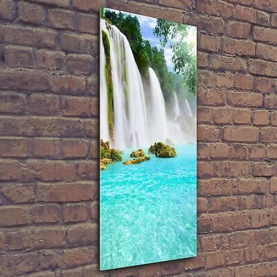 Wandbild Kunst-Druck auf Hart-Glas hochkant 50x125