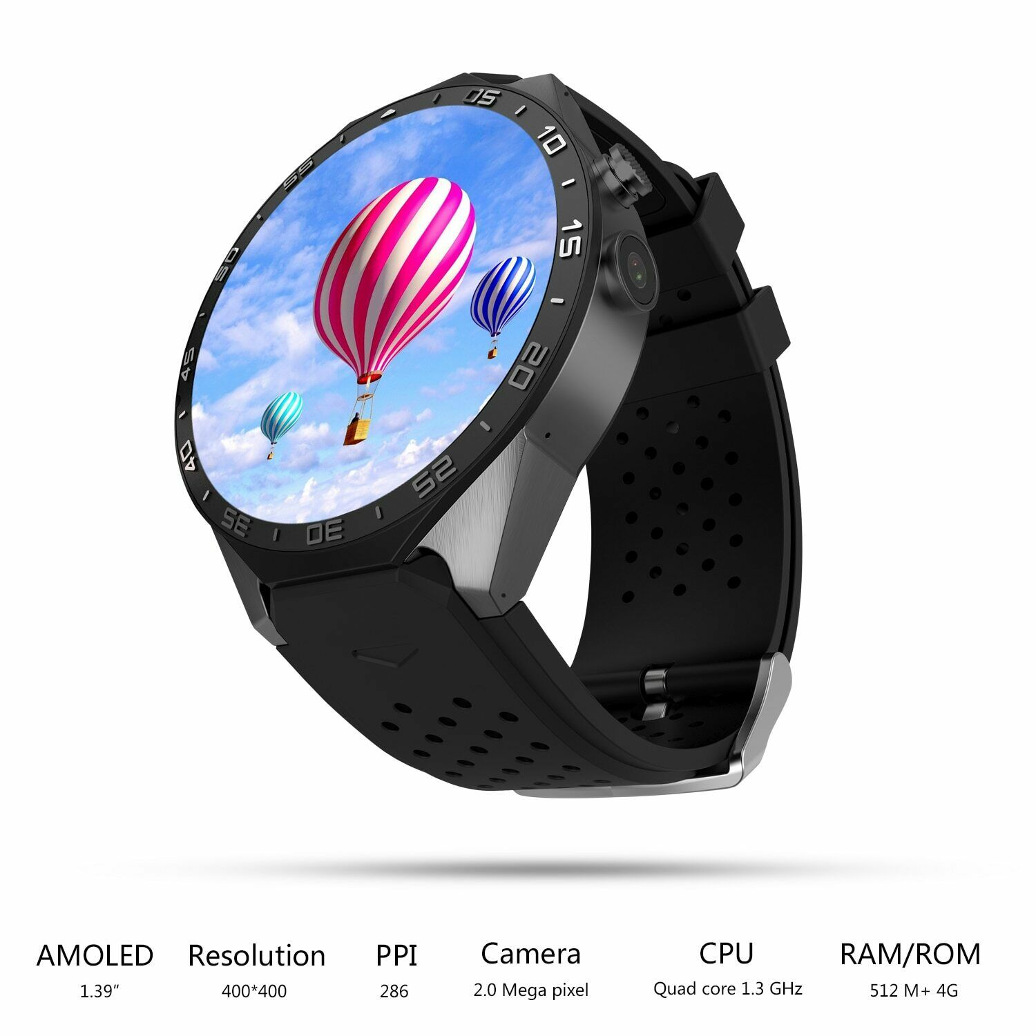 KW88 Pro Android 7.0 Smart Watch Phone Quad Core 1GB+16GB Go