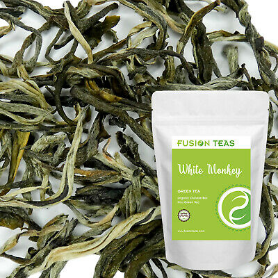 White Monkey ( Bai Mao Hou) Green Tea - Organic Chinese Loose Leaf - Fusion Teas Loose White Tea