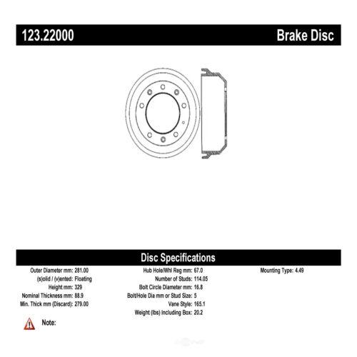Brake Drum-C-TEK Standard Preferred Rear fits 1993 Land