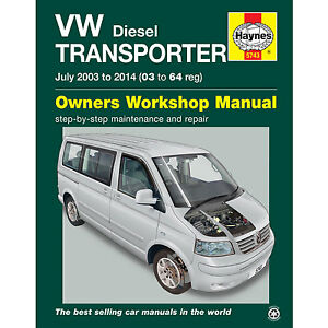 New Haynes Manual VW T5 Transporter Diesel 2003 - 2014 Car Workshop Repair Book