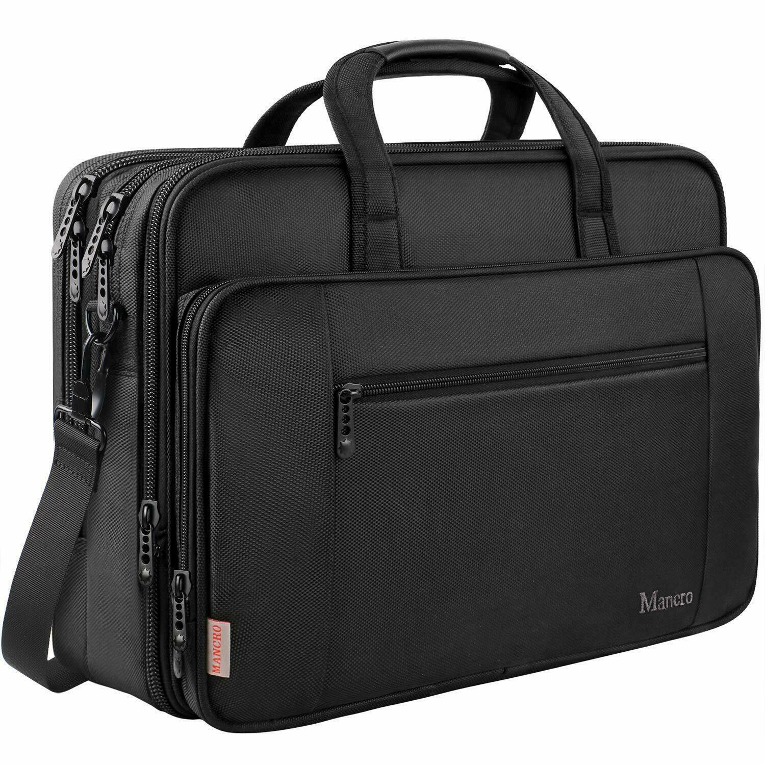 Laptop Briefcase Bag, 17 inch Laptop Bag for Men Women, Wate