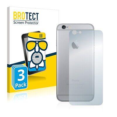 3x Protector Pantalla para Apple iPhone 6 Trasera (superficie entera) Cristal
