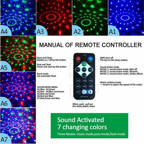6W 5V Dj Disco LED Light Strobe Sound Colorful Ball Party Dance Light RGB Decro
