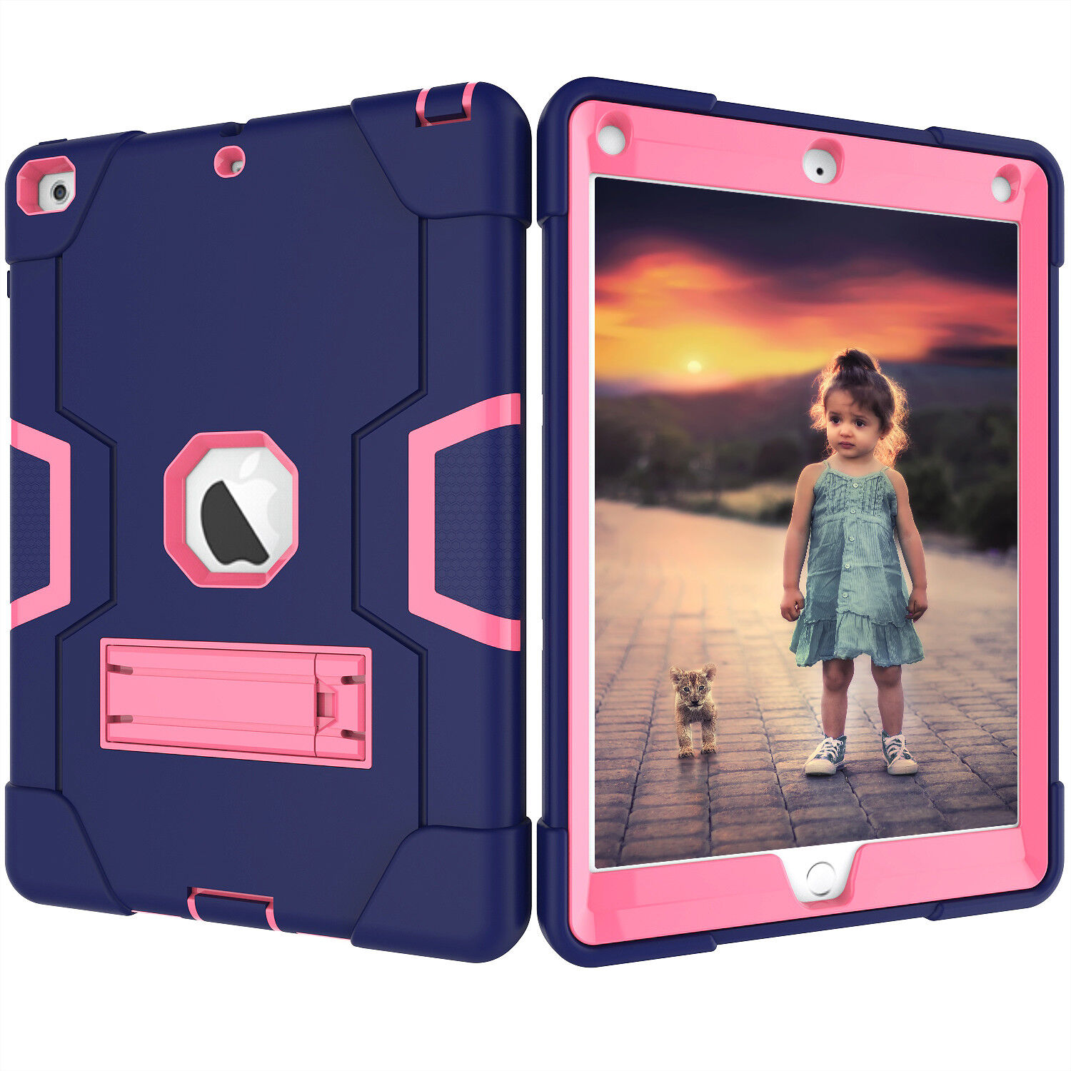 Shockproof Rubber Hard Kickstand Case Cover For Apple iPad 9.7 Inch 2018 6th Gen