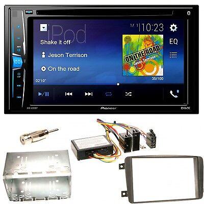 Pioneer AVH-A200BT USB CD Einbauset für Mercedes C-Klasse W203 CLK W208 W209 ()