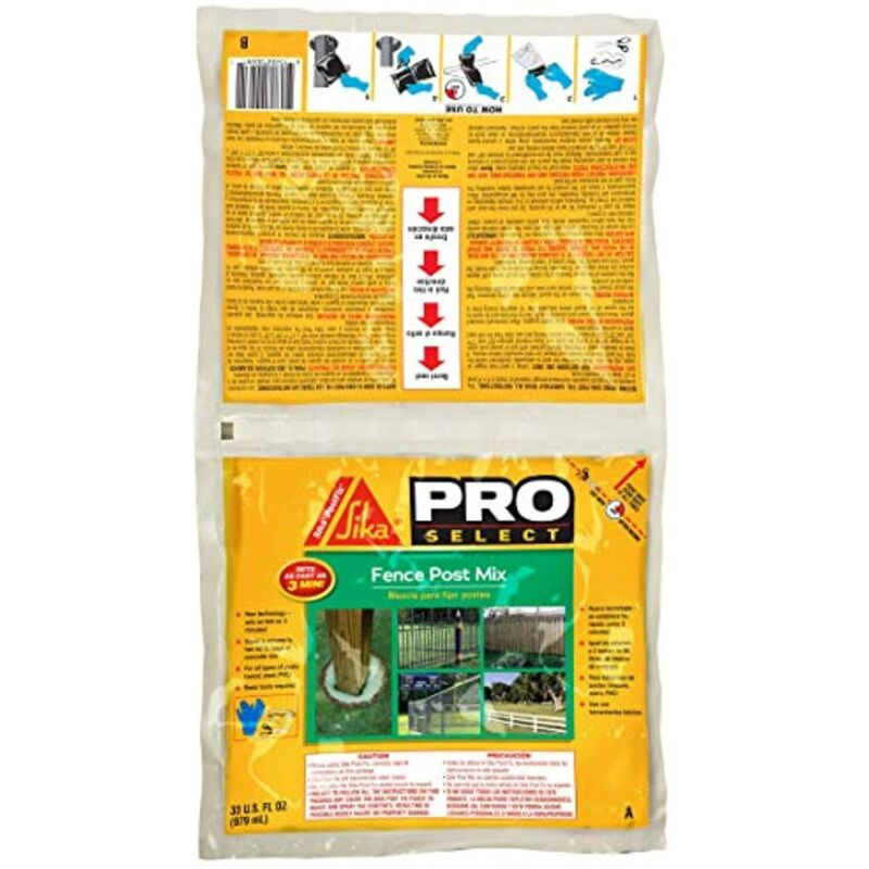 Sika Postfix Fence Post Mix, Mix-in-The-Bag Expanding Foam for Supporting