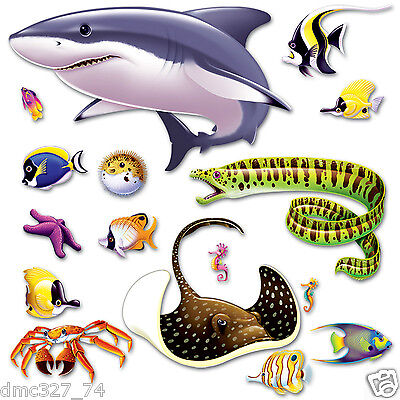 UNDER THE SEA Ocean Tropical Luau Party Decoration MARINE LIFE Wall ADD ON PROPS](Under The Sea Props)