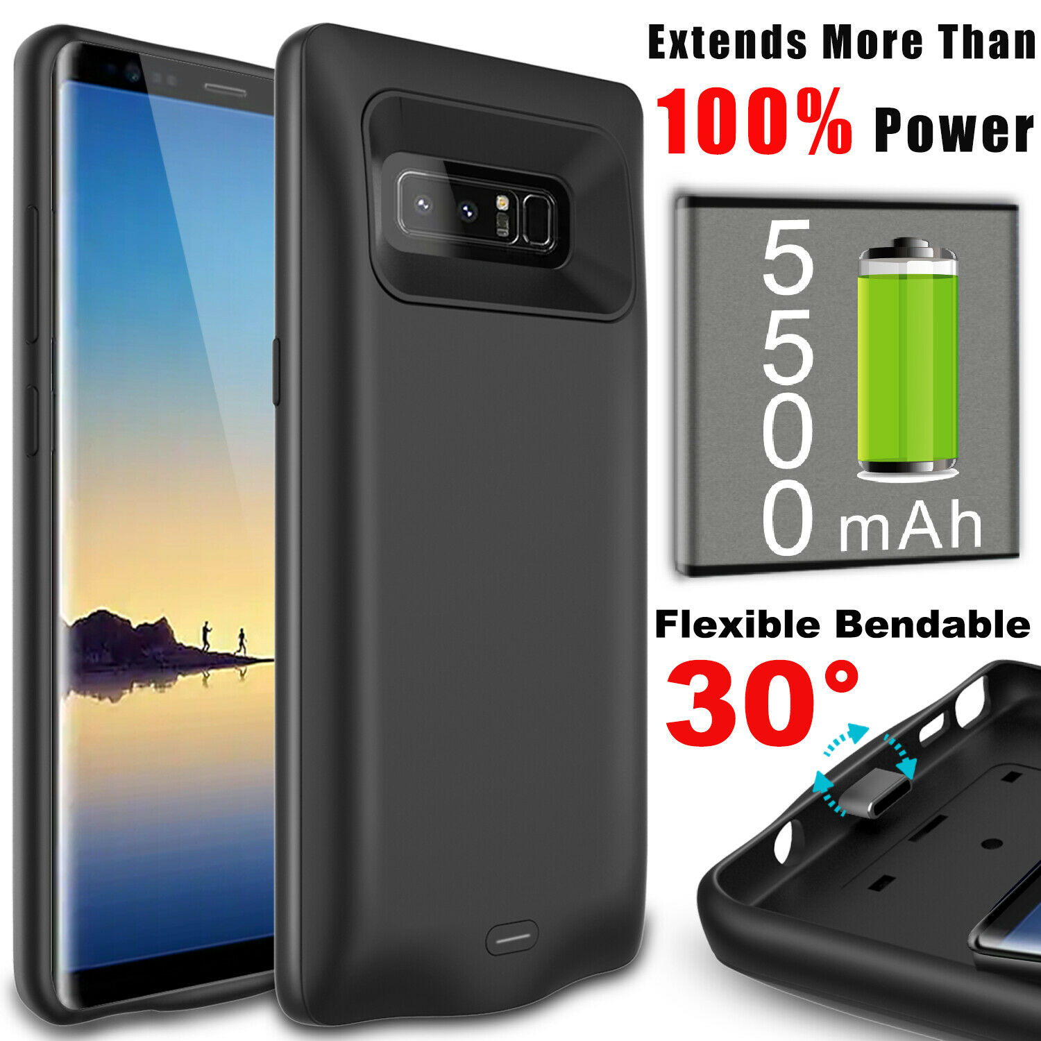 For Samsung Galaxy Note 8 Battery Pack Case Charging Power B