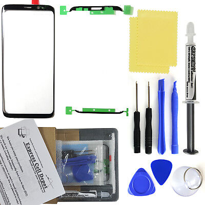 For Samsung Galaxy S8/S9/Plus Front Glass Lens Screen Replacement LOCA glue (Lens Replacement Glasses)