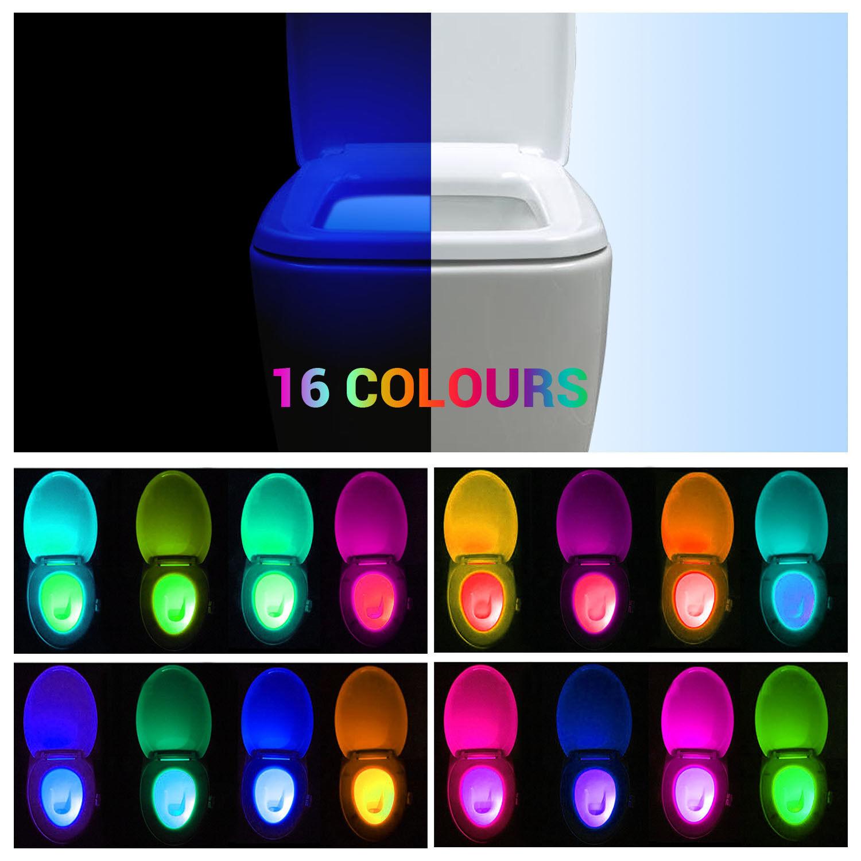LED Bewegungsmelder Toilette Lampe Nachtlampe Night 16 Farbewechsel leuchtung