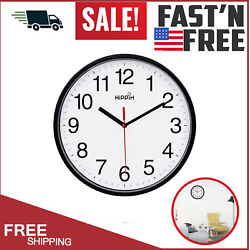 Large Wall Clock Black Oversized Living Room Silent Decorative Home Modern Big