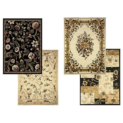 Transitional Floral Area Rug 8x11 Casual Vines Scrolls Carpet -Actual 7'8