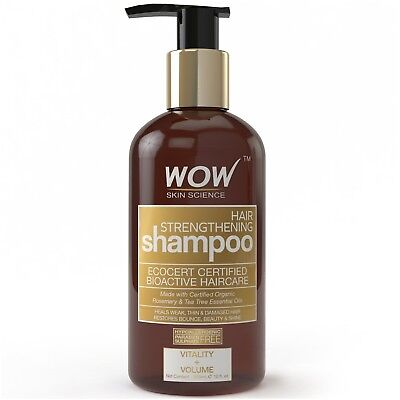 WOW Hair Strengthening Shampoo - For Thinning and Damaged Hair