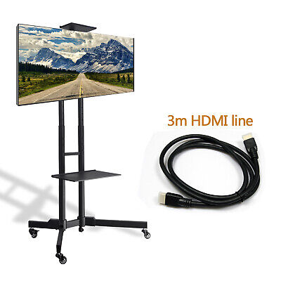 "Floor TV Stand with Swivel Mount for 32-65"" inch LED LCD Flat Curved Screen TVs"