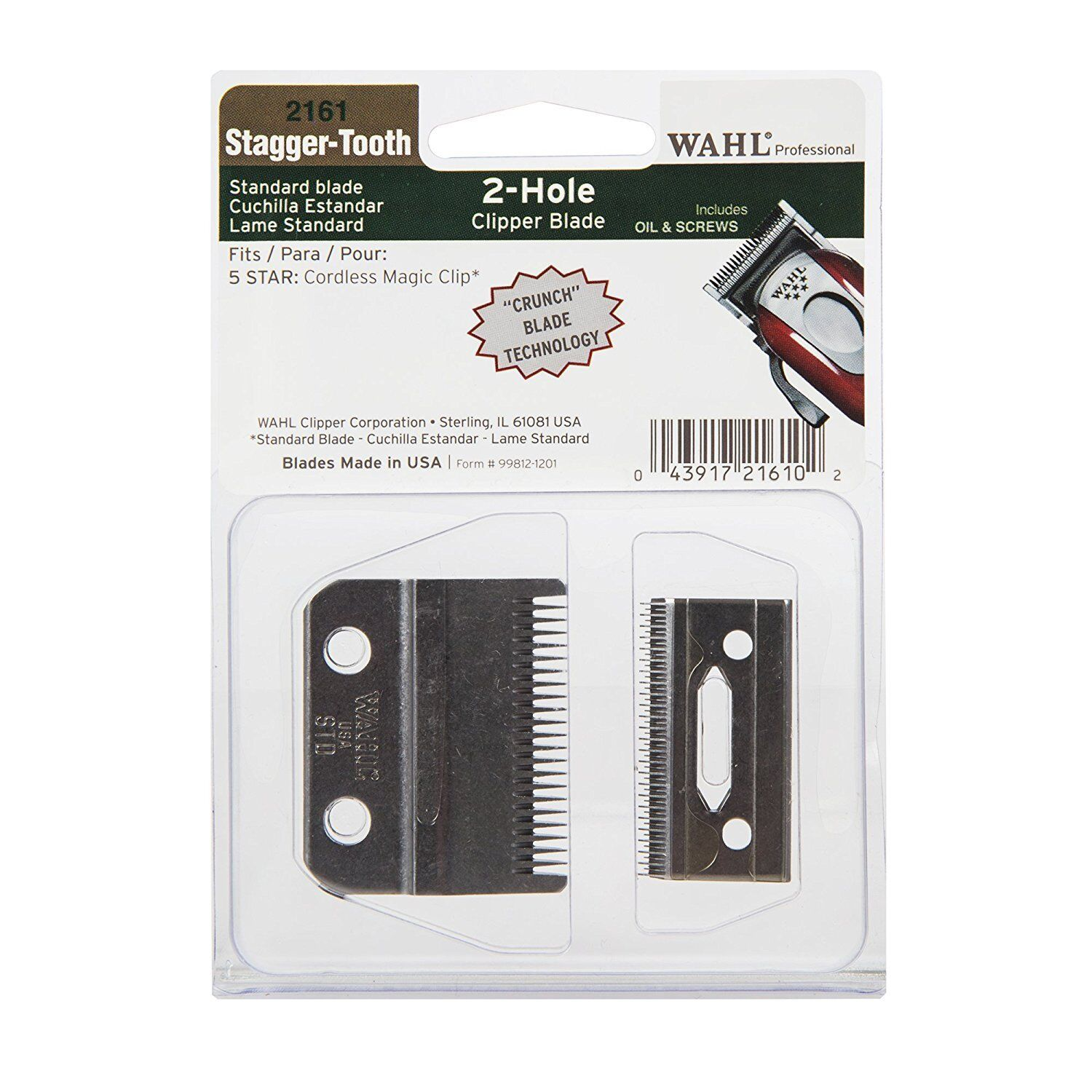 Wahl Stagger-Tooth 2-Hole Clipper Blade for 5 Star Cordless