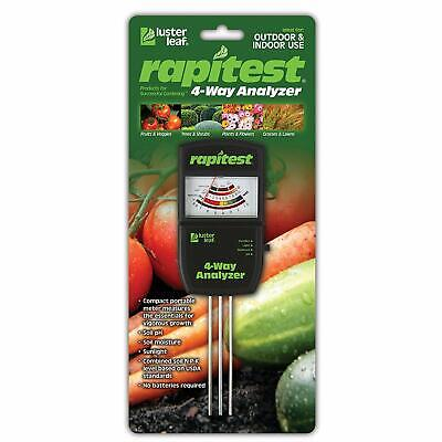 Rapitest 4-Way Analyzer - Measure Soil pH Moisture Fertility & covid 19 (4 Way Soil coronavirus)