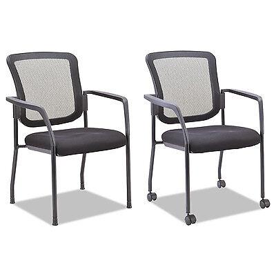 Alera Mesh Guest Stacking Chair Black El4314