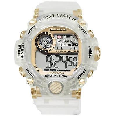 Gold Face Montres Carlo Classic Transparent LCD Watch Men Women Retro Fashion