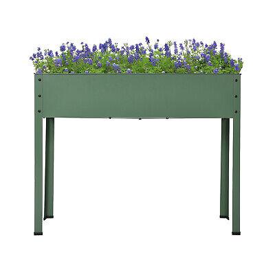 Metal Raised Garden Bed Elevated Flower Vegetable Planter Fruits Herb Box W/ Leg