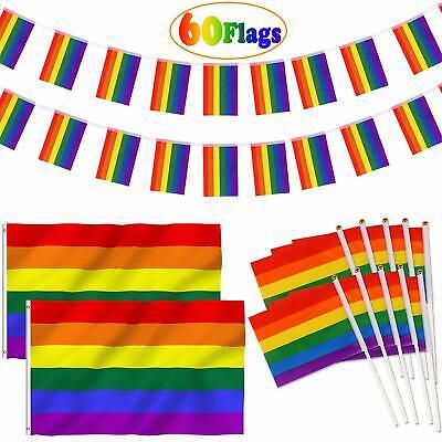 Gaypride Party-Flaggenset 60 Flaggen