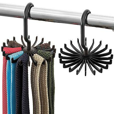 Space Saving Tie Rack - (2 Pack) Hanging Bow Tie Hanger with 20 Hooks Tie -