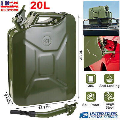 5 Gallon Fuel Pack Spare Container Spill Proof Gasoline Gas Can Jerry Can 20l