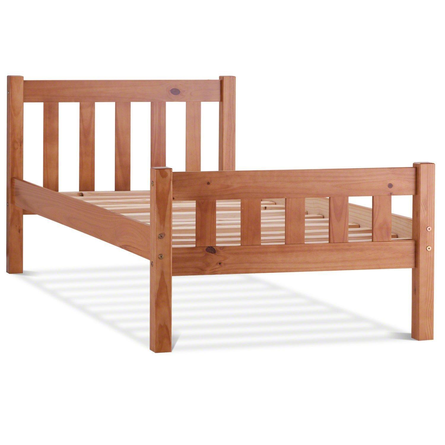 Single bed frame beds bed frames ebay for Wood frame bunk beds