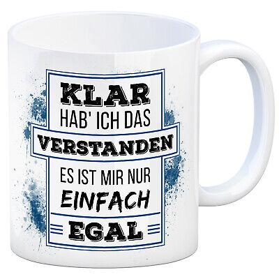 standen es ist mir - Kaffeebecher Ignoranz Kaffeetasse Egal (Klar Kaffeetassen)