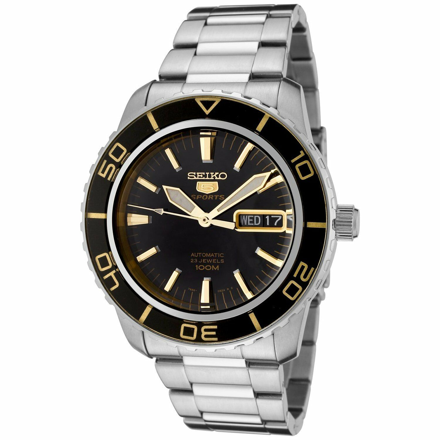 Mens SNZH57 Seiko 5 Automatic Stainless Steel Watch