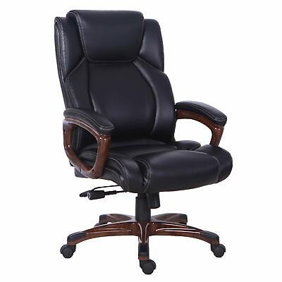 Bonded Leather Relining Office Chair High Back Executive Computer Desk Chair