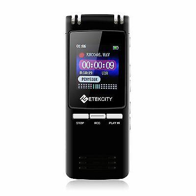 8GB 560Hours Digital Voice Recorder & MP3 Music Player, Built-in Loudspeaker