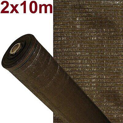 Malla de sombreo ocultación lona sombra color Marrón 2x10m metros rejas