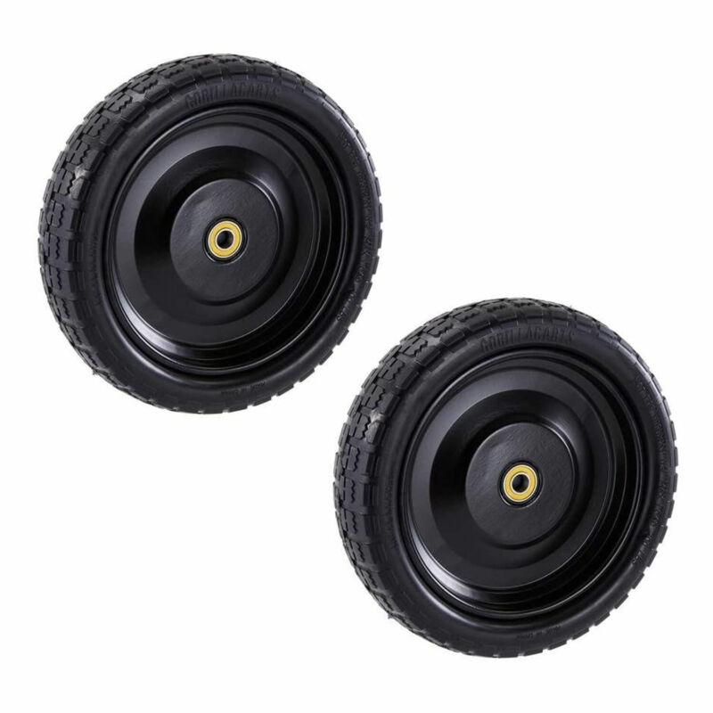 Gorilla Carts GCT-13NF 13 Inch No Flat Replacement Tire for Utility Cart, 2 Pack