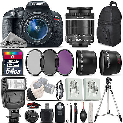Canon EOS Rebel T5i DSLR Camera 700D + 18-55mm IS STM - Ultimate Saving Bundle