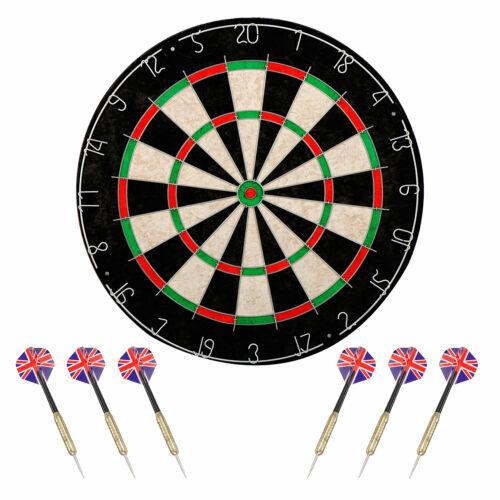 Shot King Regulation Bristle Steel Tip Dartboard Set with Staple-Free Bullseye Dart Boards