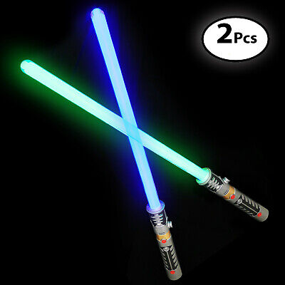Laser Sword's for Kids (2 Pack) - Double Bladed Light Saber Toy with Sounds -